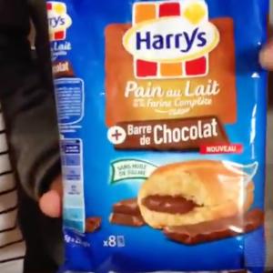 Test d'un nouveau produit industriel : Pain au lait barre de chocolat Harrys