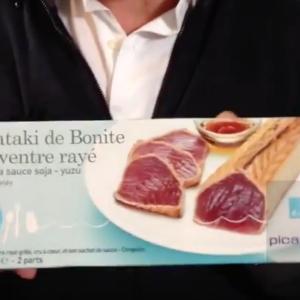 Test d'un nouveau produit industriel : Tataki de bonite à ventre rayé Picard Surgelés