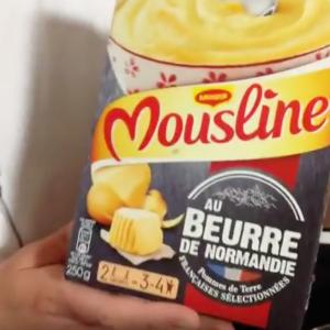 Test d'un nouveau produit industriel : Mousline au beurre de Normandie Maggi