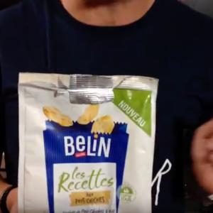 Test d'un nouveau produit industriel : Biscuits apéritifs Les Recettes aux pois chiches de Belin