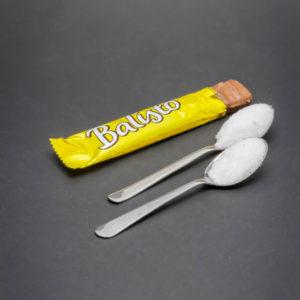 1 Balisto contient 1,6 cuil. à café de sucre