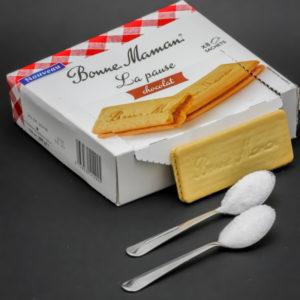 1 biscuit La Pause de Bonne Maman contient 1,6 cuil. à café de sucre