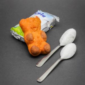 1 Lulu l'Ourson contient 1,9 cuil. à café de sucre