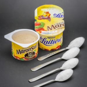 1 pot de MaronSui's contient 4 cuil. à café de sucre