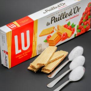 6 paille d'Or (1/2 sachet) contiennent 2,4 cuil. à café de sucre