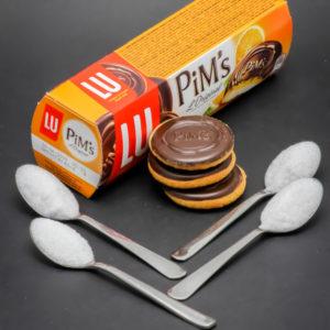 3 Pim's l'original contiennent 3,7 cuil. à café de sucre
