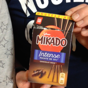 Test d'un nouveau produit industriel : Mikado intense pointe de sel version longue