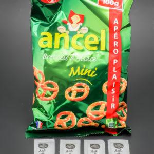 1 sachet de mini bretzels Ancel contient 5,25 dosettes de sel soit 4,2g