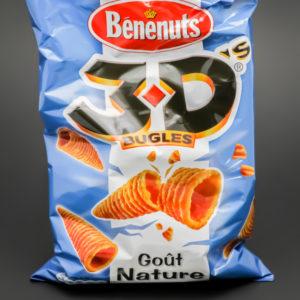 1 sachet de 3D bugles de Bénenuts contient 2,8 dosettes de sel soit 2,2g