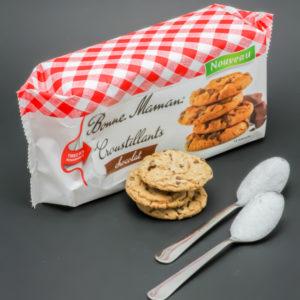 3 biscuits croustillants chocolat Bonne Maman contiennent 2 cuil. à café de sucre soit 10,2g