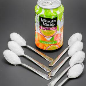 1 Minute Maid tropical contient 6,2 cuil. à café de sucre soit 31g