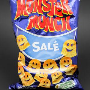 1 sachet de Monster Munch de Vico contient 2,3 dosettes de sel soit 1,8g