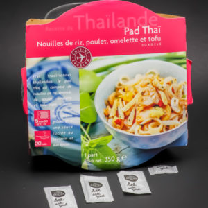 1 barquette de Pad Thaï Picard Surgelés contient 3,25 dosettes de sel soit 2,6g
