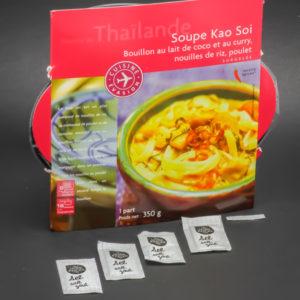 1 soupe Kao Soi Picard Surgelés contient 4,12 dosettes de sel soit 3,3g