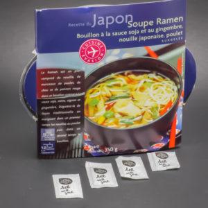 1 barquette de soupe Ramen Picard Surgelés contient 3,8 dosettes de sel soit 3,03g