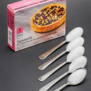 1 tartelette chocolat et caramel Picard Surgelés contient 4,5 cuil. à café de sucre soit 22,6g
