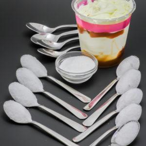 1 Very Parfait nappage caramel McDonald's contient 13,2 cuil. à café de sucre soit 66g
