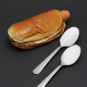 1 P'tit Hot Dog McDonald's contient 1,6 cuil. à café de sucre soit 8g