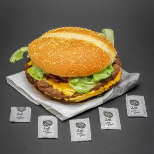 1 Double Steakhouse Burger King contient 4,75 dosettes de sel soit 3,8g