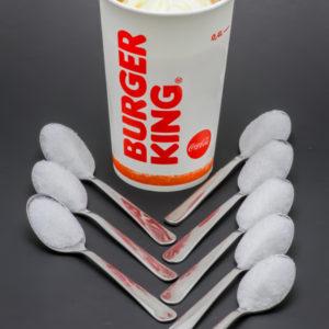1 King Sunday Burger King contient 7,3 cuil. à café de sucre soit 36,5g
