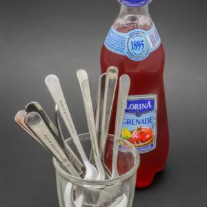 1 limonade grenade Lorina de 42cl contient 8,1 cuil. à café de sucre soit 40,7g
