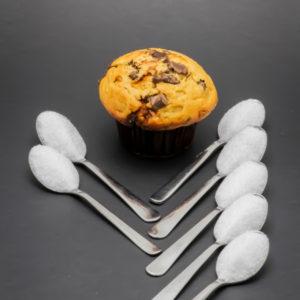 1 muffin chocolat vanille Starbucks contient 7,1 cuil. à café de sucre soit 35,6g