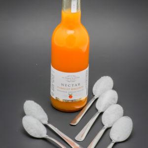 25cl de nectar d'abricot Les Toques Blanches du Monde contiennent 5,5 cuil. à café de sucre soit 27,5g