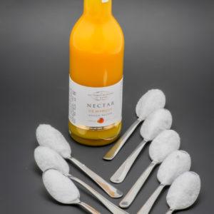 1 nectar de mangue de 25cl Les Toques Blanches du Monde contient 8 cuil. à café de sucre soit 40g