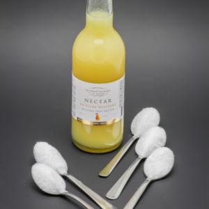25cl de nectar de poire Les Toques Blanches du Monde contiennent 5 cuil. à café de sucre soit 25g