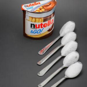 1 Nutella & Go contient 4,5 cuil. à café de sucre soit 22,6g