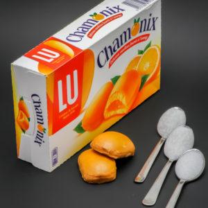 2 Chamonix de Lu contiennent 2,4 cuil. à café de sucre soit 11,8g