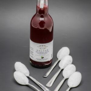 25cl de nectar de cassis Les Toques Blanches du Monde contiennent 5,8 cuil. à café de sucre soit 29g
