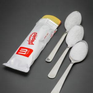 1 barre Pockitos de Pépito contient 2,2 cuil. à café de sucre soit 11g