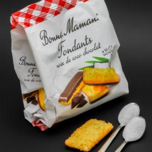 1 fondant noix de coco chocolat Bonne Maman contient 2 cuil. à café de sucre soit 10g