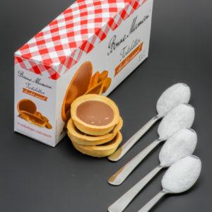 3 Tartelettes chocolat caramel Bonne Maman contiennent 3,7 cuil. à café de sucre soit 18,6g