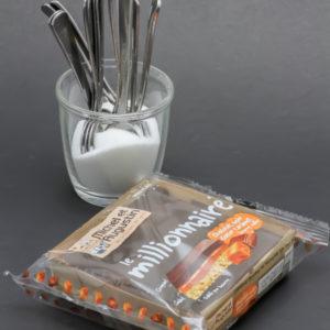 Le Millionnaire de Michel et Augustin contient 11,9 cuil. à café de sucre soit 59,4g