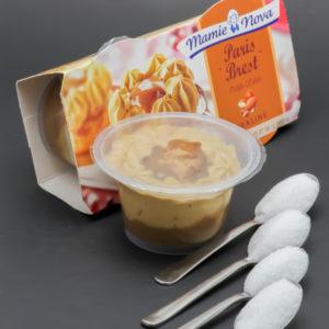 1 Paris Brest Mamie Nova contient 3,8 cuil. à café de sucre soit 18,9g